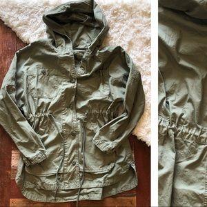 American Eagle   Olive Anorak Utility Jacket
